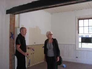 Daniel and Anne in building